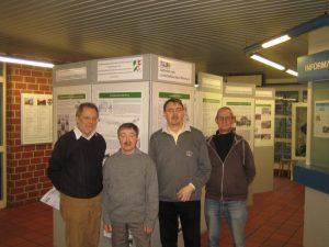 Ausstellungsmacher und Archivare im Kaiserhof, von links: Peter Segler, Georg Edler, Dr. Ralf Fellenberg, Uli Schimschock