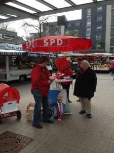 SPD-Hochdahl auf dem Wochenmarkt