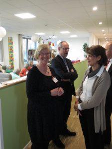 Cäcilie Haverkamp, Detlef Ehlert und Silvia Gabler bei der SenTa-Eröffnung (Foto: Klaus Bauer)