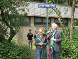 Schulpflegschaftsvorsitzende Gabi Katzenburg und Dieter Smolka