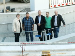 Vor Ort: Marleen Buschmann, Peter Urban, Detlef Ehlert, Jan Pfeifer, Paul Söhnchen, Foto: Adi Franke