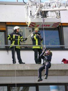 Erkrather Feuerwehr im Übungseinsatz