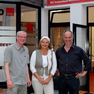 Drei auf einem gemeinsamen Weg: Jörg Dürr, Andrea Rottmann und Detlef Ehlert