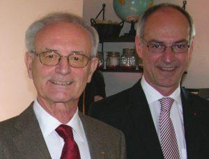 Der ehemalige Präsident des Europäischen Palaments, Dr. Klaus Hänsch, hier mit Detlef Ehlert