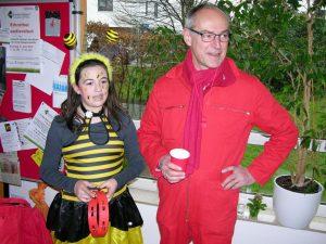 Ein Bienchen im SPD-Korb