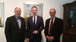 Steinbrück zu Besuch bei Bürgermeister Schultz in Erkrath
