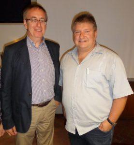 Vorsitzender Klaus Bauer und sein Stellvertreter Peter Urban