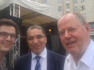 Max Guder, Interkultureller Berater Mohammed Assila und Peer Steinbrück