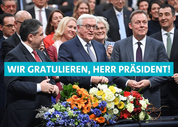 Herzlichen Glückwunsch, lieber Bundesprsident Frank-Walter Steinmeier !
