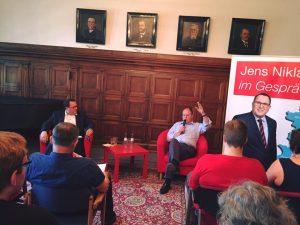 Jens Niklaus im Gespräch mit Peer Steinbrück